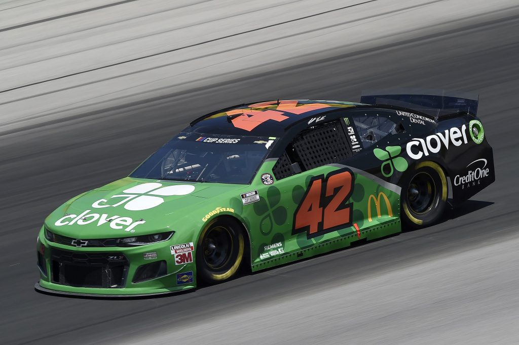 SPARTA, KENTUCKY - JULY 12: Matt Kenseth, driver of the #42 Clover Chevrolet, drives during the NASCAR Cup Series Quaker State 400 Presented by Walmart at Kentucky Speedway on July 12, 2020 in Sparta, Kentucky. (Photo by Jared C. Tilton/Getty Images) | Getty Images