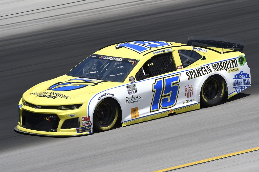 SPARTA, KENTUCKY - JULY 12: Brennan Poole, driver of the #15 Chevrolet, drives during the NASCAR Cup Series Quaker State 400 Presented by Walmart at Kentucky Speedway on July 12, 2020 in Sparta, Kentucky. (Photo by Jared C. Tilton/Getty Images) | Getty Images