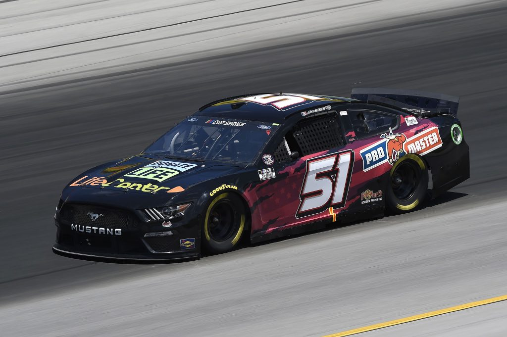 SPARTA, KENTUCKY - JULY 12: Joey Gase, driver of the #51 Ford, drives during the NASCAR Cup Series Quaker State 400 Presented by Walmart at Kentucky Speedway on July 12, 2020 in Sparta, Kentucky. (Photo by Jared C. Tilton/Getty Images) | Getty Images