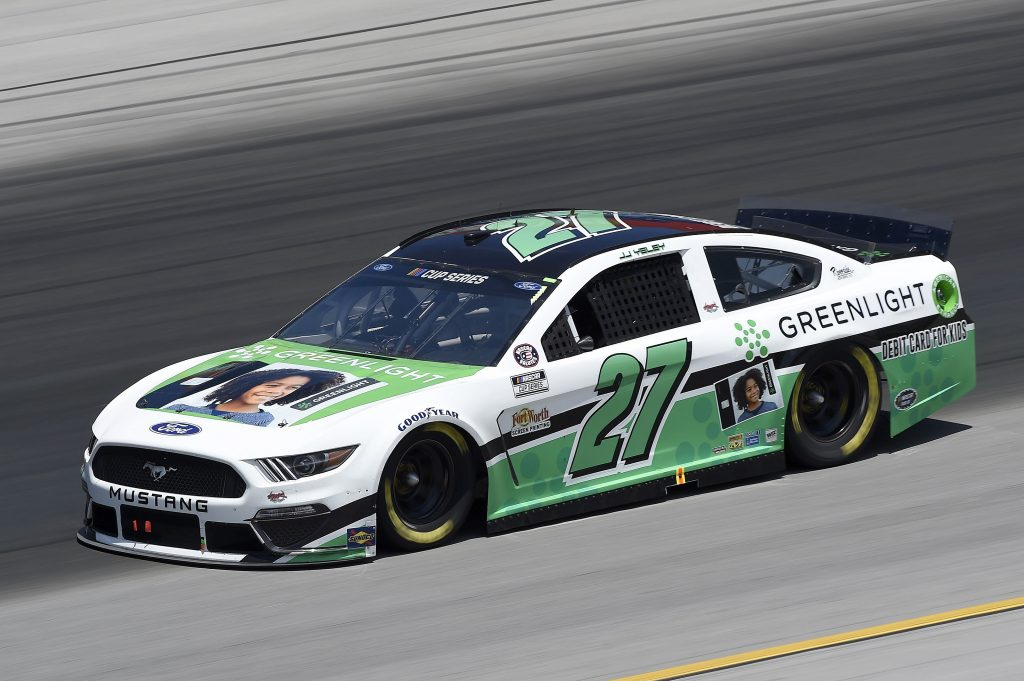 SPARTA, KENTUCKY - JULY 12: JJ Yeley, driver of the #27 Ford, drives during the NASCAR Cup Series Quaker State 400 Presented by Walmart at Kentucky Speedway on July 12, 2020 in Sparta, Kentucky. (Photo by Jared C. Tilton/Getty Images) | Getty Images