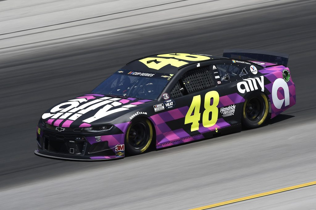 SPARTA, KENTUCKY - JULY 12: Jimmie Johnson, driver of the #48 Ally Chevrolet, drives during the NASCAR Cup Series Quaker State 400 Presented by Walmart at Kentucky Speedway on July 12, 2020 in Sparta, Kentucky. (Photo by Jared C. Tilton/Getty Images) | Getty Images