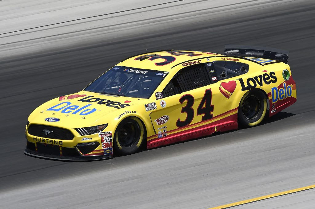 SPARTA, KENTUCKY - JULY 12: Michael McDowell, driver of the #34 Love's Travel Stops Ford, drives during the NASCAR Cup Series Quaker State 400 Presented by Walmart at Kentucky Speedway on July 12, 2020 in Sparta, Kentucky. (Photo by Jared C. Tilton/Getty Images) | Getty Images