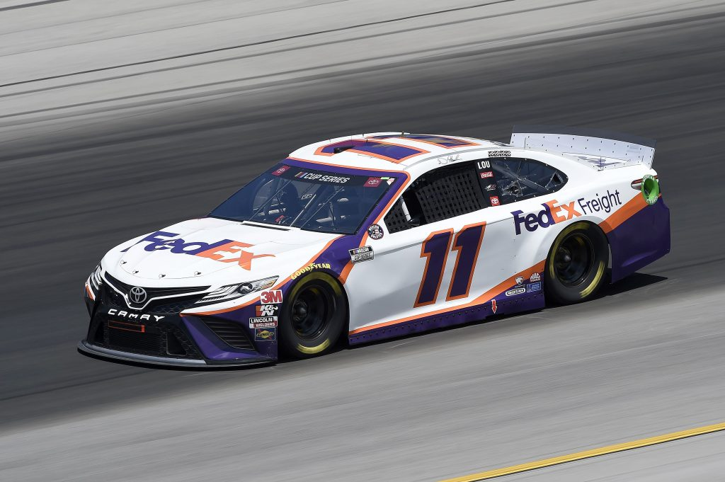 SPARTA, KENTUCKY - JULY 12: Denny Hamlin, driver of the #11 FedEx Freight Toyota, drives during the NASCAR Cup Series Quaker State 400 Presented by Walmart at Kentucky Speedway on July 12, 2020 in Sparta, Kentucky. (Photo by Jared C. Tilton/Getty Images) | Getty Images