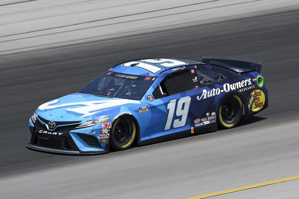 SPARTA, KENTUCKY - JULY 12: Martin Truex Jr., driver of the #19 Auto Owners Insurance Toyota, drives during the NASCAR Cup Series Quaker State 400 Presented by Walmart at Kentucky Speedway on July 12, 2020 in Sparta, Kentucky. (Photo by Jared C. Tilton/Getty Images)   Getty Images