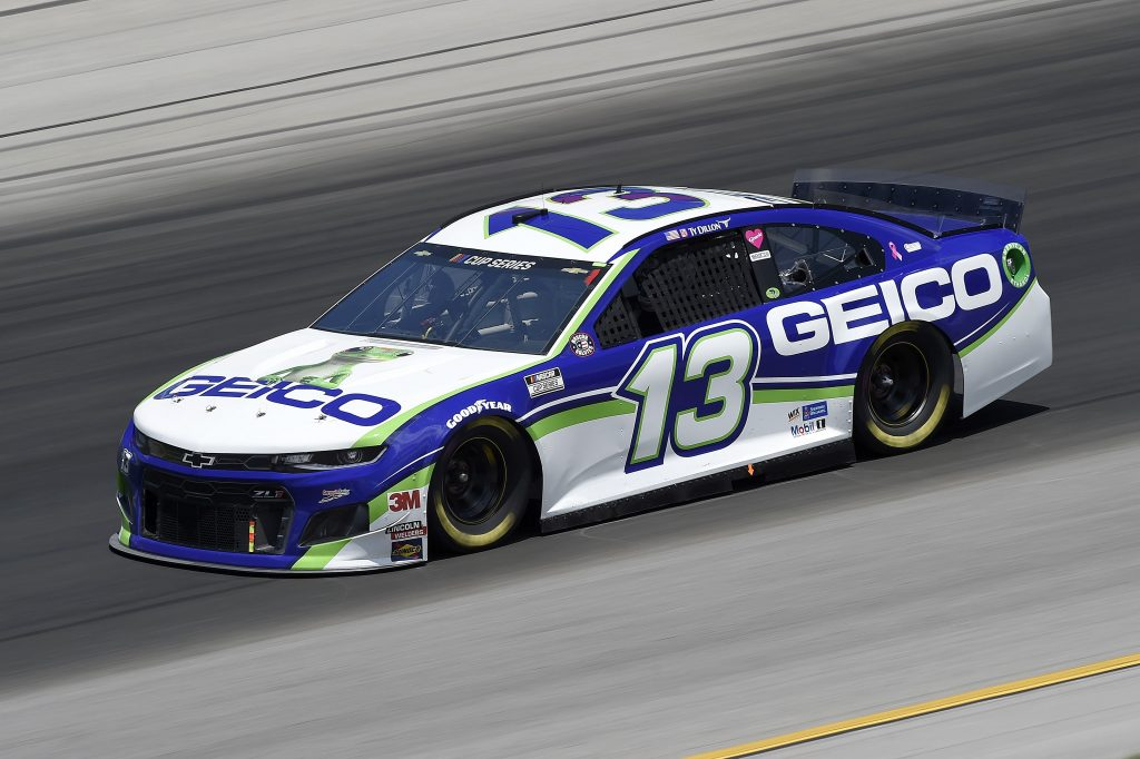 SPARTA, KENTUCKY - JULY 12: Ty Dillon, driver of the #13 GEICO Chevrolet, drives during the NASCAR Cup Series Quaker State 400 Presented by Walmart at Kentucky Speedway on July 12, 2020 in Sparta, Kentucky. (Photo by Jared C. Tilton/Getty Images) | Getty Images