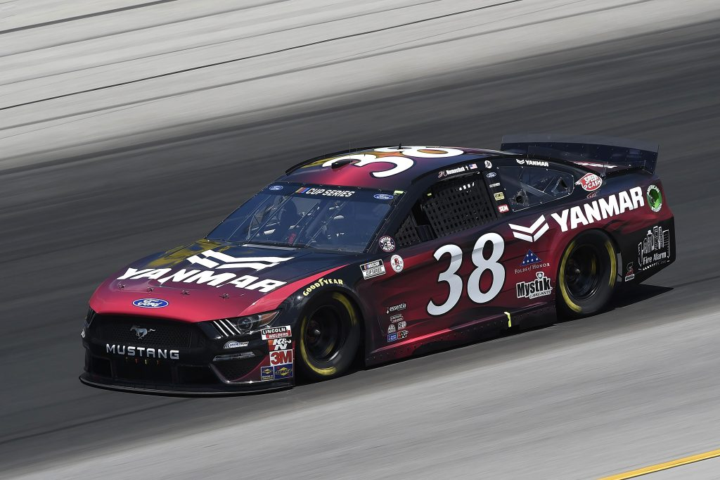 SPARTA, KENTUCKY - JULY 12: John H. Nemechek, driver of the #38 YANMAR Ford, drives during the NASCAR Cup Series Quaker State 400 Presented by Walmart at Kentucky Speedway on July 12, 2020 in Sparta, Kentucky. (Photo by Jared C. Tilton/Getty Images)   Getty Images