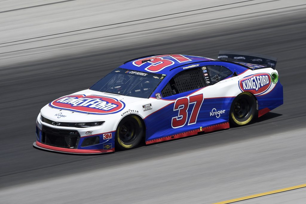 SPARTA, KENTUCKY - JULY 12: Ryan Preece, driver of the #37 Kingsford Chevrolet, drives during the NASCAR Cup Series Quaker State 400 Presented by Walmart at Kentucky Speedway on July 12, 2020 in Sparta, Kentucky. (Photo by Jared C. Tilton/Getty Images) | Getty Images