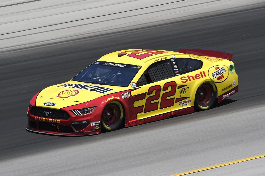 SPARTA, KENTUCKY - JULY 12: Joey Logano, driver of the #22 Shell Pennzoil Ford, drives during the NASCAR Cup Series Quaker State 400 Presented by Walmart at Kentucky Speedway on July 12, 2020 in Sparta, Kentucky. (Photo by Jared C. Tilton/Getty Images) | Getty Images