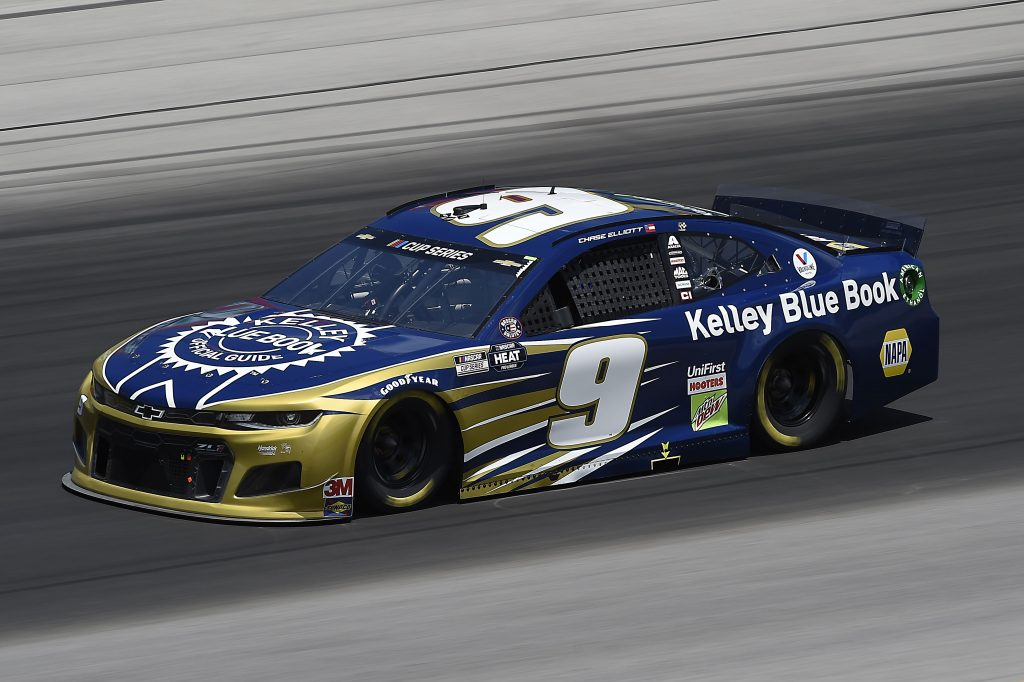 SPARTA, KENTUCKY - JULY 12: Chase Elliott, driver of the #9 Kelley Blue Book Chevrolet, drives during the NASCAR Cup Series Quaker State 400 Presented by Walmart at Kentucky Speedway on July 12, 2020 in Sparta, Kentucky. (Photo by Jared C. Tilton/Getty Images) | Getty Images