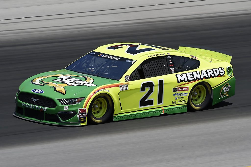 SPARTA, KENTUCKY - JULY 12: Matt DiBenedetto, driver of the #21 Menards/Quaker State Ford, drives during the NASCAR Cup Series Quaker State 400 Presented by Walmart at Kentucky Speedway on July 12, 2020 in Sparta, Kentucky. (Photo by Jared C. Tilton/Getty Images) | Getty Images