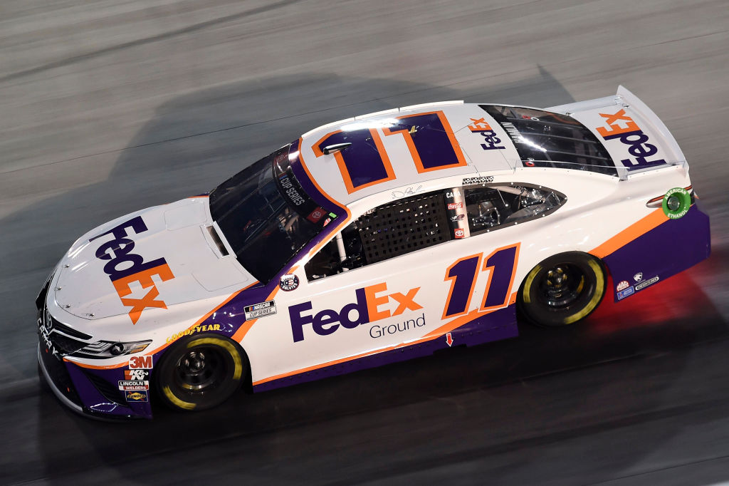 BRISTOL, TENNESSEE - JULY 15: Denny Hamlin, driver of the #11 FedEx Ground Toyota, drives during the NASCAR Cup Series All-Star Race at Bristol Motor Speedway on July 15, 2020 in Bristol, Tennessee. (Photo by Jared C. Tilton/Getty Images) | Getty Images