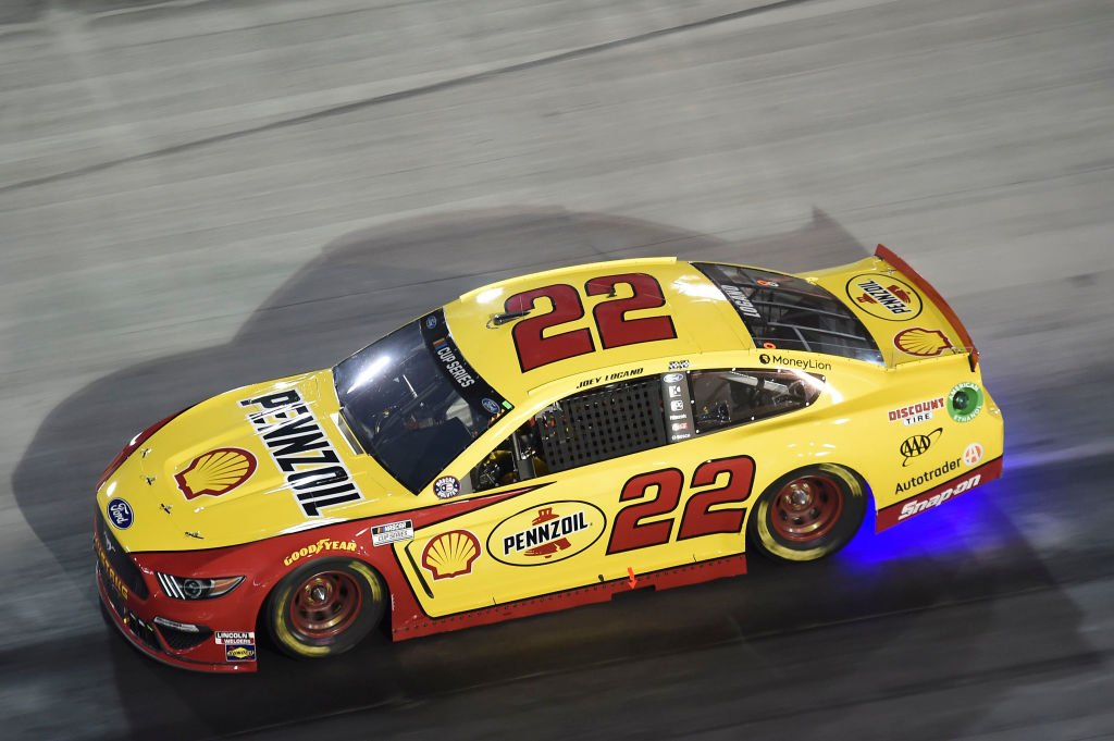 BRISTOL, TENNESSEE - JULY 15: Joey Logano, driver of the #22 Shell Pennzoil Ford, drives during the NASCAR Cup Series All-Star Race at Bristol Motor Speedway on July 15, 2020 in Bristol, Tennessee. (Photo by Jared C. Tilton/Getty Images) | Getty Images