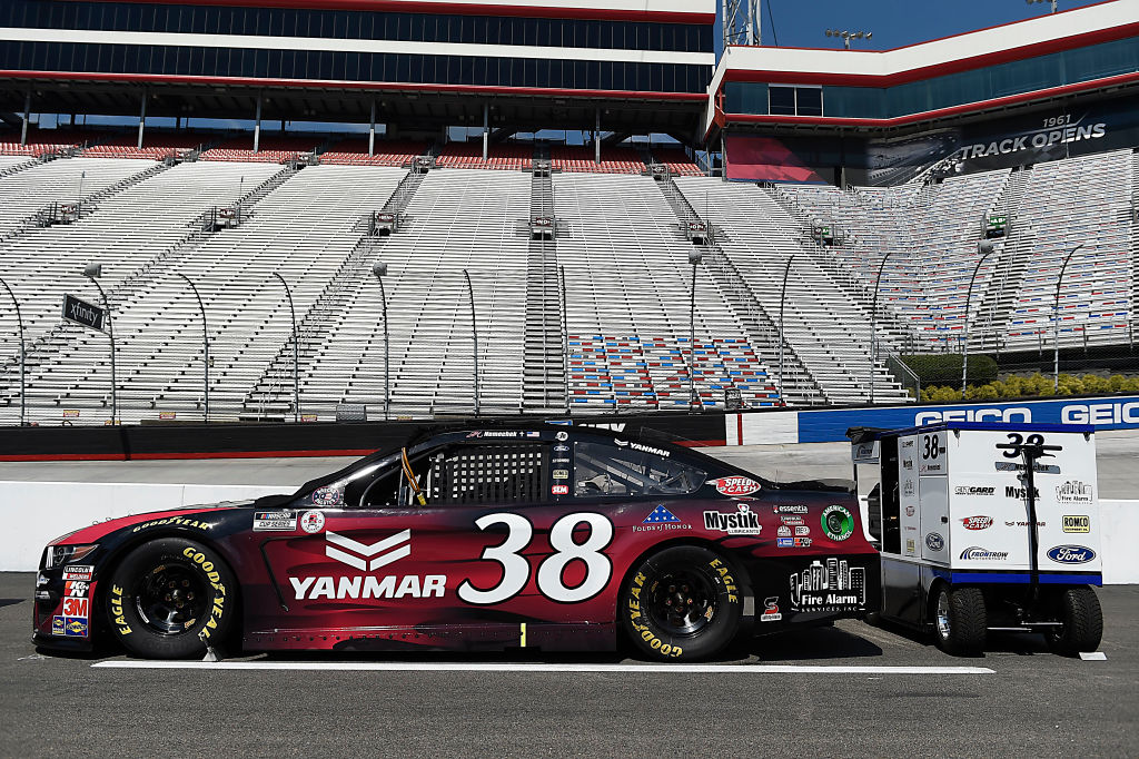 BRISTOL, TENNESSEE - JULY 15:  The #38 YANMAR Ford,  driven by John H. Nemechek, sits on the grid prior to the NASCAR Cup Series All-Star Race at Bristol Motor Speedway on July 15, 2020 in Bristol, Tennessee. (Photo by Jared C. Tilton/Getty Images) | Getty Images
