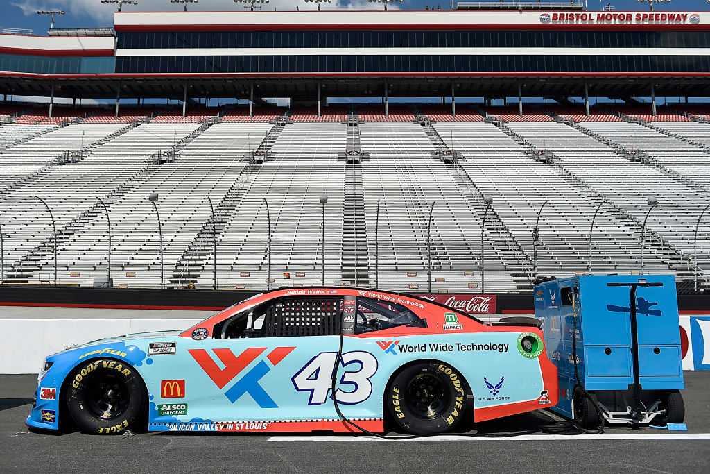 BRISTOL, TENNESSEE - JULY 15:  The #43 World Wide Technology Chevrolet, driven by  Bubba Wallace, sits on the grid prior to the NASCAR Cup Series All-Star Race at Bristol Motor Speedway on July 15, 2020 in Bristol, Tennessee. (Photo by Jared C. Tilton/Getty Images) | Getty Images