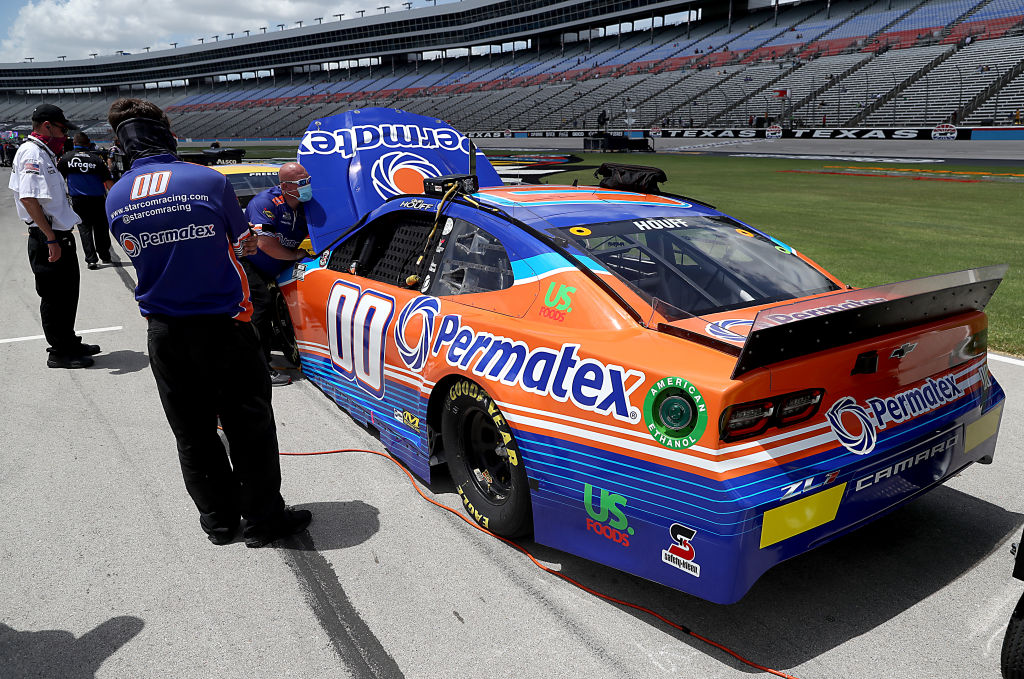 FORT WORTH, TEXAS - JULY 19: The #00 Permatex Chevrolet, driven by Quin Houff, waits on the grid prior to the NASCAR Cup Series O'Reilly Auto Parts 500 at Texas Motor Speedway on July 19, 2020 in Fort Worth, Texas. (Photo by Chris Graythen/Getty Images) | Getty Images