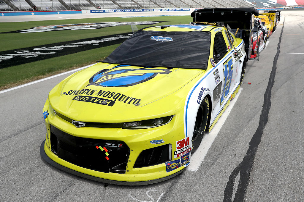 FORT WORTH, TEXAS - JULY 19: The #15 Remember Everyone Deployed Chevrolet, driven by Brennan Poole, waits on the grid prior to the NASCAR Cup Series O'Reilly Auto Parts 500 at Texas Motor Speedway on July 19, 2020 in Fort Worth, Texas. (Photo by Chris Graythen/Getty Images) | Getty Images
