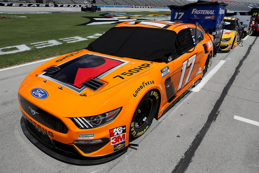 FORT WORTH, TEXAS - JULY 19: The #17 Roush Performance Stage 3 Ford, driven by Chris Buescher, waits on the grid prior to the NASCAR Cup Series O'Reilly Auto Parts 500 at Texas Motor Speedway on July 19, 2020 in Fort Worth, Texas. (Photo by Chris Graythen/Getty Images) | Getty Images