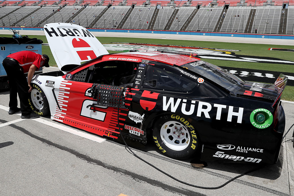 FORT WORTH, TEXAS - JULY 19: The #2 Wurth Ford, driven by Brad Keselowski, waits on the grid prior to the NASCAR Cup Series O'Reilly Auto Parts 500 at Texas Motor Speedway on July 19, 2020 in Fort Worth, Texas. (Photo by Chris Graythen/Getty Images) | Getty Images