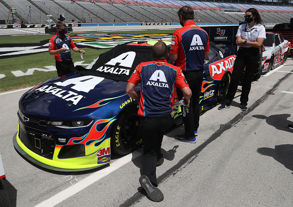 FORT WORTH, TEXAS - JULY 19: The #24 Axalta Chevrolet, driven by William Byron, waits on the grid prior to the NASCAR Cup Series O'Reilly Auto Parts 500 at Texas Motor Speedway on July 19, 2020 in Fort Worth, Texas. (Photo by Chris Graythen/Getty Images) | Getty Images