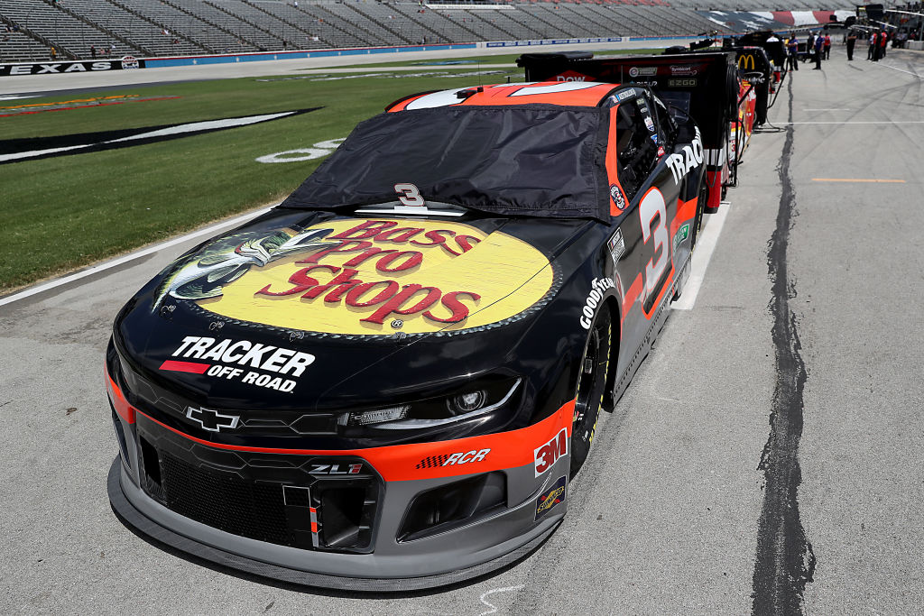 FORT WORTH, TEXAS - JULY 19: The #3 Bass Pro Shops Chevrolet, driven by Austin Dillon, waits on the grid prior to the NASCAR Cup Series O'Reilly Auto Parts 500 at Texas Motor Speedway on July 19, 2020 in Fort Worth, Texas. (Photo by Chris Graythen/Getty Images) | Getty Images