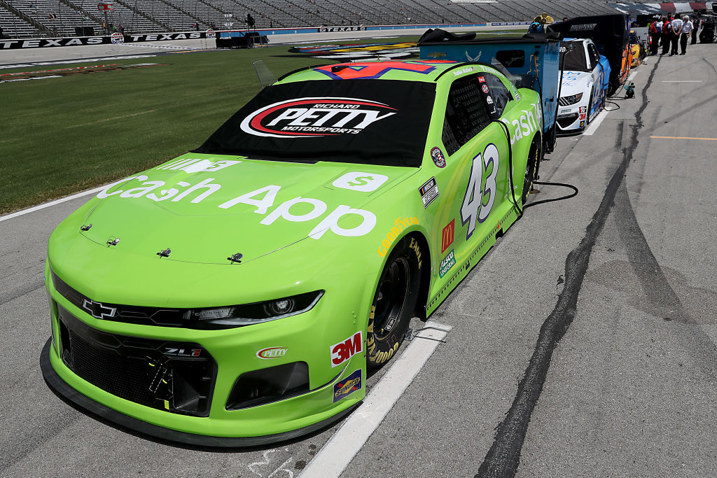 FORT WORTH, TEXAS - JULY 19: The #43 Cash App Chevrolet, driven by Bubba Wallace, waits on the grid prior to the NASCAR Cup Series O'Reilly Auto Parts 500 at Texas Motor Speedway on July 19, 2020 in Fort Worth, Texas. (Photo by Chris Graythen/Getty Images) | Getty Images