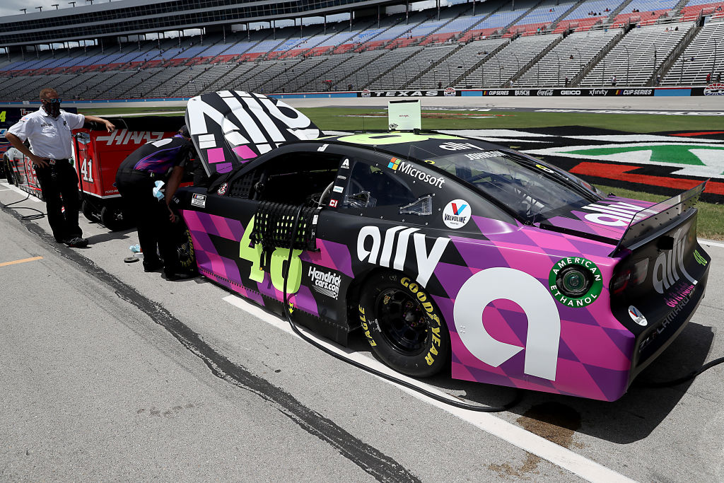 FORT WORTH, TEXAS - JULY 19: The #48 Ally Chevrolet, driven by Jimmie Johnson, waits on the grid prior to the NASCAR Cup Series O'Reilly Auto Parts 500 at Texas Motor Speedway on July 19, 2020 in Fort Worth, Texas. (Photo by Chris Graythen/Getty Images) | Getty Images