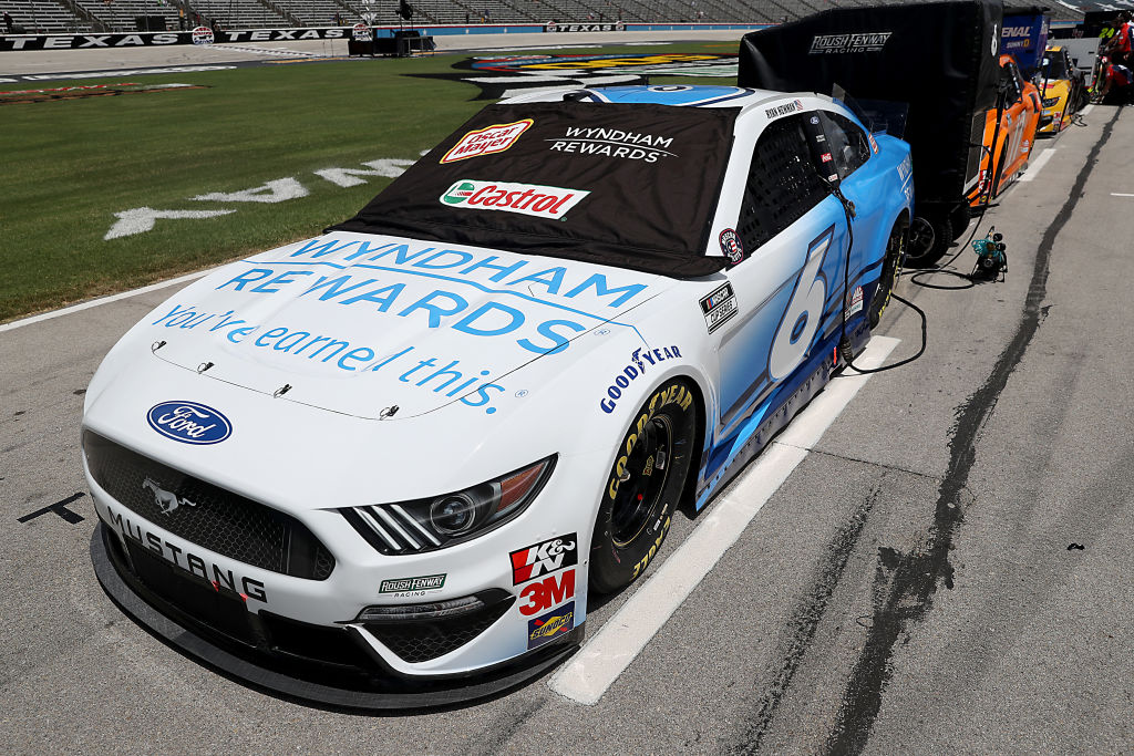 FORT WORTH, TEXAS - JULY 19: The #6 Wyndham Rewards Ford, driven by Ryan Newman, waits on the grid prior to the NASCAR Cup Series O'Reilly Auto Parts 500 at Texas Motor Speedway on July 19, 2020 in Fort Worth, Texas. (Photo by Chris Graythen/Getty Images) | Getty Images