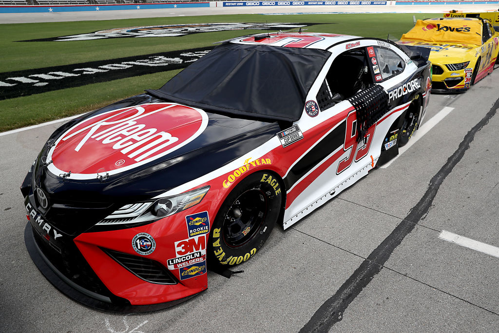 FORT WORTH, TEXAS - JULY 19: The #95 Rheem Toyota, driven by Christopher Bell, waits on the grid prior to the NASCAR Cup Series O'Reilly Auto Parts 500 at Texas Motor Speedway on July 19, 2020 in Fort Worth, Texas. (Photo by Chris Graythen/Getty Images) | Getty Images