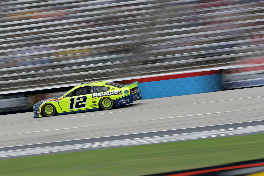 FORT WORTH, TEXAS - JULY 19: Ryan Blaney, driver of the #12 Menards/Maytag Ford, races during the NASCAR Cup Series O'Reilly Auto Parts 500 at Texas Motor Speedway on July 19, 2020 in Fort Worth, Texas. (Photo by Chris Graythen/Getty Images) | Getty Images