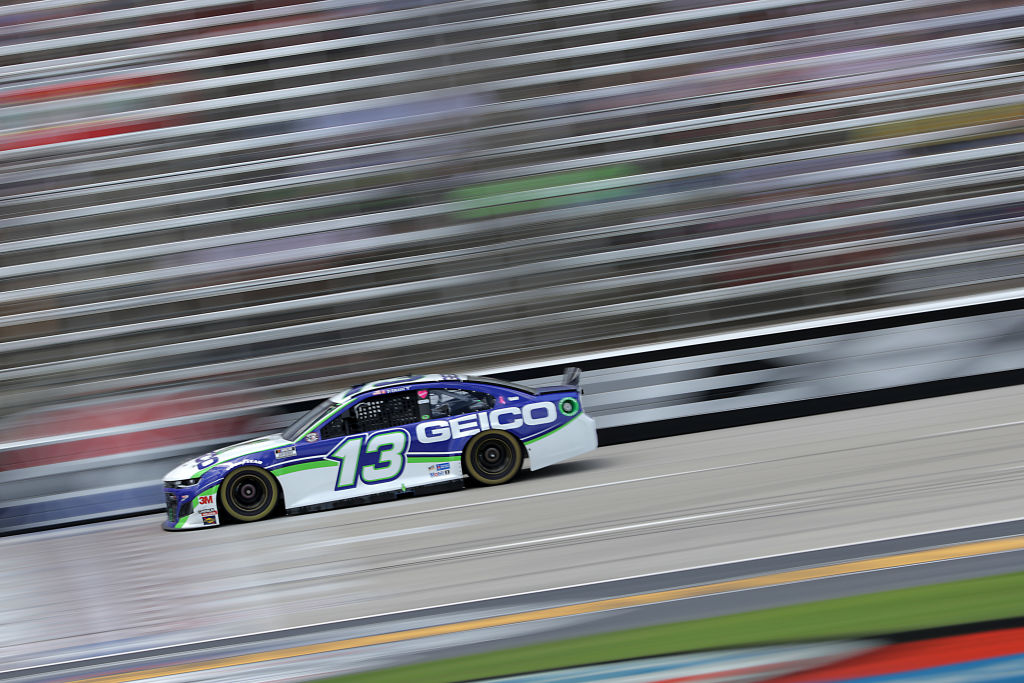 FORT WORTH, TEXAS - JULY 19: Ty Dillon, driver of the #13 GEICO Chevrolet, races during the NASCAR Cup Series O'Reilly Auto Parts 500 at Texas Motor Speedway on July 19, 2020 in Fort Worth, Texas. (Photo by Chris Graythen/Getty Images) | Getty Images