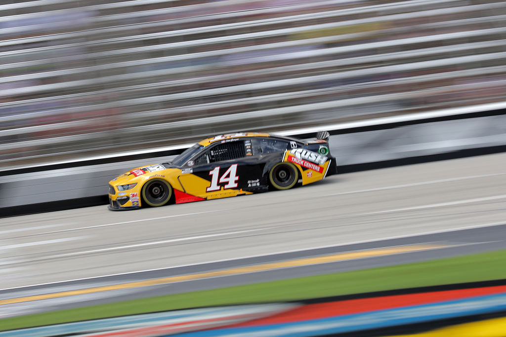 FORT WORTH, TEXAS - JULY 19: Clint Bowyer, driver of the #14 Rush Truck Centers Ford, races during the NASCAR Cup Series O'Reilly Auto Parts 500 at Texas Motor Speedway on July 19, 2020 in Fort Worth, Texas. (Photo by Chris Graythen/Getty Images) | Getty Images
