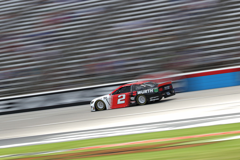 FORT WORTH, TEXAS - JULY 19: Brad Keselowski, driver of the #2 Wurth Ford, races during the NASCAR Cup Series O'Reilly Auto Parts 500 at Texas Motor Speedway on July 19, 2020 in Fort Worth, Texas. (Photo by Chris Graythen/Getty Images) | Getty Images