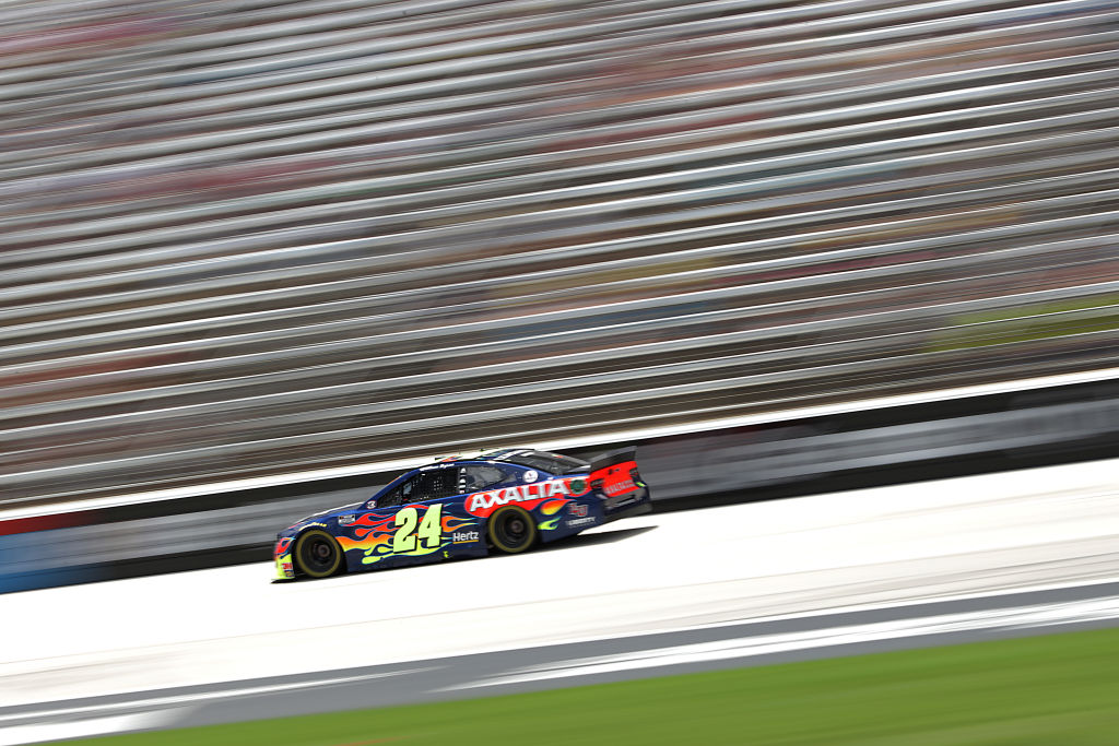 FORT WORTH, TEXAS - JULY 19: William Byron, driver of the #24 Axalta Chevrolet, races during the NASCAR Cup Series O'Reilly Auto Parts 500 at Texas Motor Speedway on July 19, 2020 in Fort Worth, Texas. (Photo by Chris Graythen/Getty Images) | Getty Images