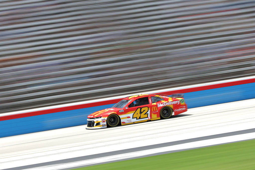 FORT WORTH, TEXAS - JULY 19: Matt Kenseth, driver of the #42 McDelivery Chevrolet, races during the NASCAR Cup Series O'Reilly Auto Parts 500 at Texas Motor Speedway on July 19, 2020 in Fort Worth, Texas. (Photo by Chris Graythen/Getty Images) | Getty Images
