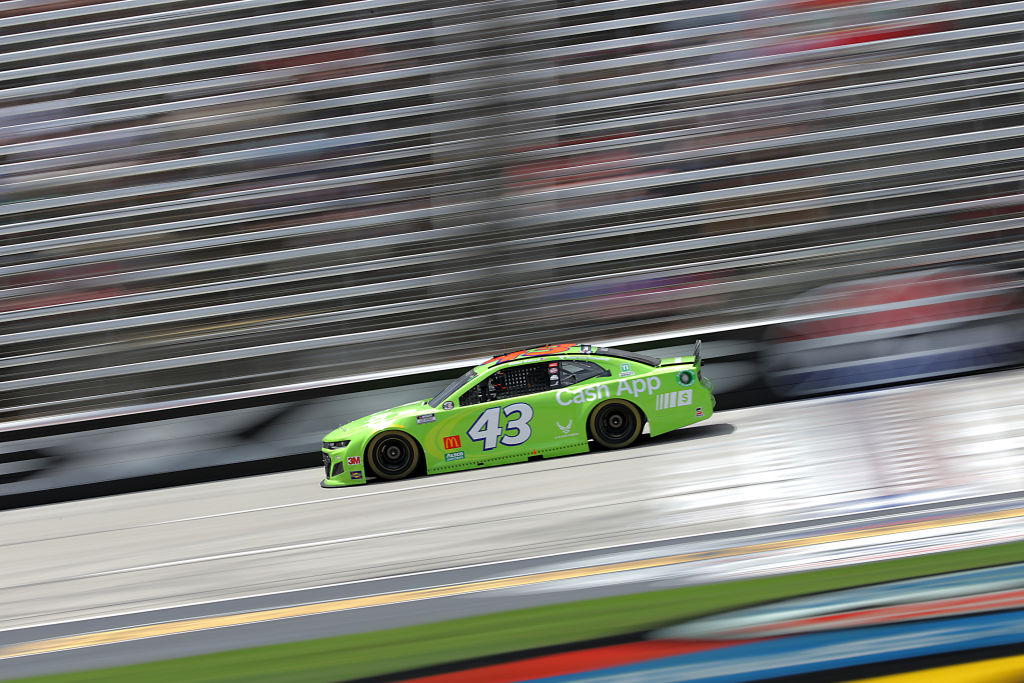 FORT WORTH, TEXAS - JULY 19: Bubba Wallace, driver of the #43 Cash App Chevrolet, races during the NASCAR Cup Series O'Reilly Auto Parts 500 at Texas Motor Speedway on July 19, 2020 in Fort Worth, Texas. (Photo by Chris Graythen/Getty Images) | Getty Images