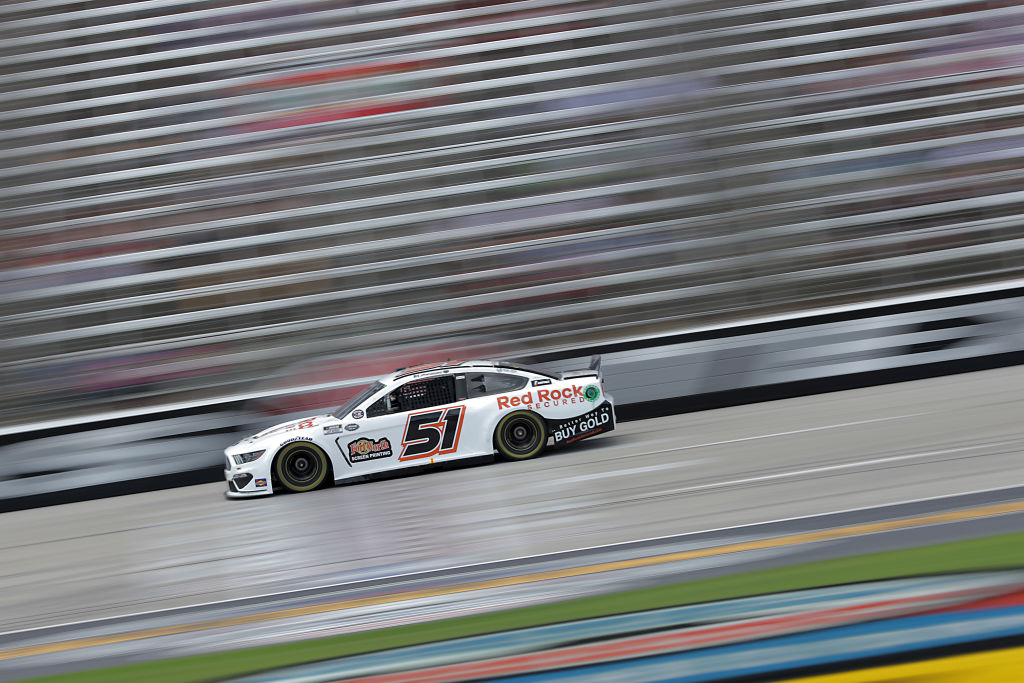 FORT WORTH, TEXAS - JULY 19: Joey Gase, driver of the #51 Ford, races during the NASCAR Cup Series O'Reilly Auto Parts 500 at Texas Motor Speedway on July 19, 2020 in Fort Worth, Texas. (Photo by Chris Graythen/Getty Images) | Getty Images