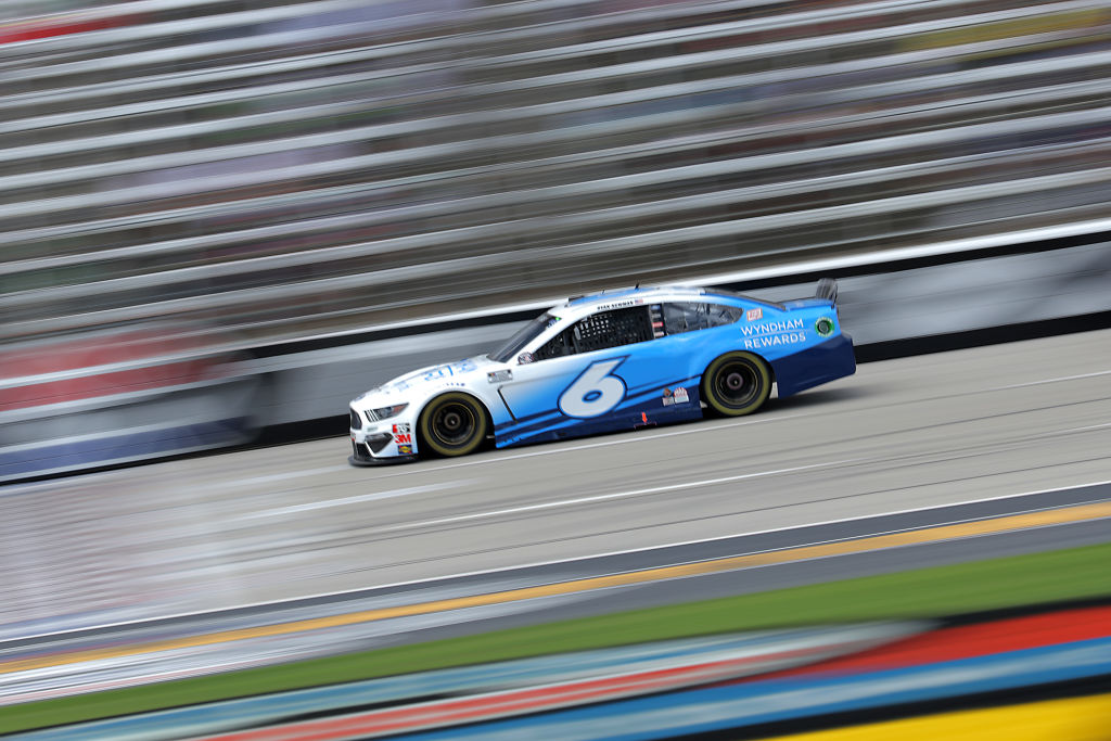 FORT WORTH, TEXAS - JULY 19: Ryan Newman, driver of the #6 Wyndham Rewards Ford, races during the NASCAR Cup Series O'Reilly Auto Parts 500 at Texas Motor Speedway on July 19, 2020 in Fort Worth, Texas. (Photo by Chris Graythen/Getty Images) | Getty Images