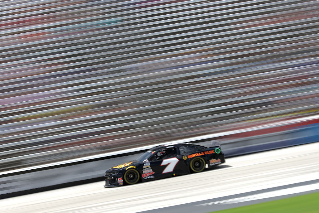 FORT WORTH, TEXAS - JULY 19: Reed Sorenson, driver of the #7 Chevrolet, races during the NASCAR Cup Series O'Reilly Auto Parts 500 at Texas Motor Speedway on July 19, 2020 in Fort Worth, Texas. (Photo by Chris Graythen/Getty Images) | Getty Images
