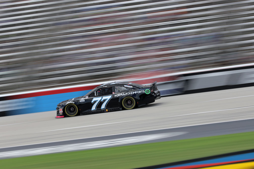 FORT WORTH, TEXAS - JULY 19: JJ Yeley, driver of the #77 Formula One Imports Chevrolet, races during the NASCAR Cup Series O'Reilly Auto Parts 500 at Texas Motor Speedway on July 19, 2020 in Fort Worth, Texas. (Photo by Chris Graythen/Getty Images) | Getty Images