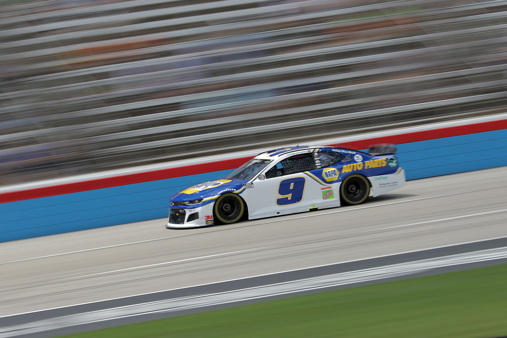 FORT WORTH, TEXAS - JULY 19: Chase Elliott, driver of the #9 NAPA Auto Parts Chevrolet, races during the NASCAR Cup Series O'Reilly Auto Parts 500 at Texas Motor Speedway on July 19, 2020 in Fort Worth, Texas. (Photo by Chris Graythen/Getty Images) | Getty Images
