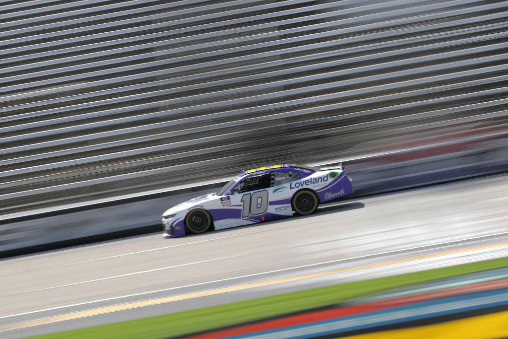 FORT WORTH, TEXAS - JULY 18: Ross Chastain, driver of the #10 Nutrien Ag Solutions/Titan XC Chevrolet, races during the NASCAR Xfinity Series Bariatric Solutions 300 at Texas Motor Speedway on July 18, 2020 in Fort Worth, Texas. (Photo by Chris Graythen/Getty Images) | Getty Images