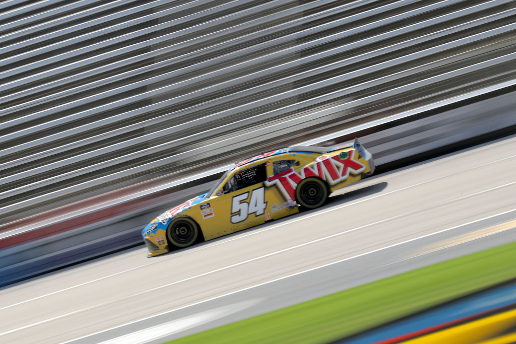 FORT WORTH, TEXAS - JULY 18: Kyle Busch, driver of the #54 Twix Cookies & Crème Toyota, drives during the NASCAR Xfinity Series Bariatric Solutions 300 at Texas Motor Speedway on July 18, 2020 in Fort Worth, Texas. (Photo by Chris Graythen/Getty Images) | Getty Images