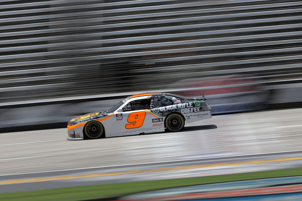 FORT WORTH, TEXAS - JULY 18: Noah Gragson, driver of the #9 Bass Pro Shops/BRCC Chevrolet, races during the NASCAR Xfinity Series Bariatric Solutions 300 at Texas Motor Speedway on July 18, 2020 in Fort Worth, Texas. (Photo by Chris Graythen/Getty Images) | Getty Images