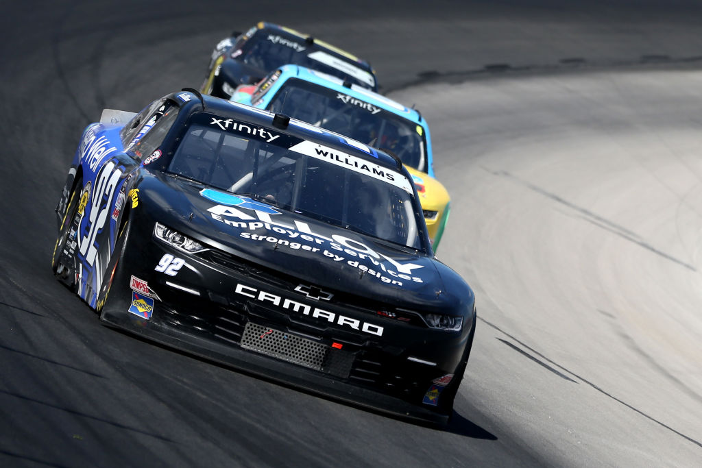 FORT WORTH, TEXAS - JULY 18: Josh Williams, driver of the #92 Chevrolet, drives during the NASCAR Xfinity Series Bariatric Solutions 300 at Texas Motor Speedway on July 18, 2020 in Fort Worth, Texas. (Photo by Brian Lawdermilk/Getty Images) | Getty Images