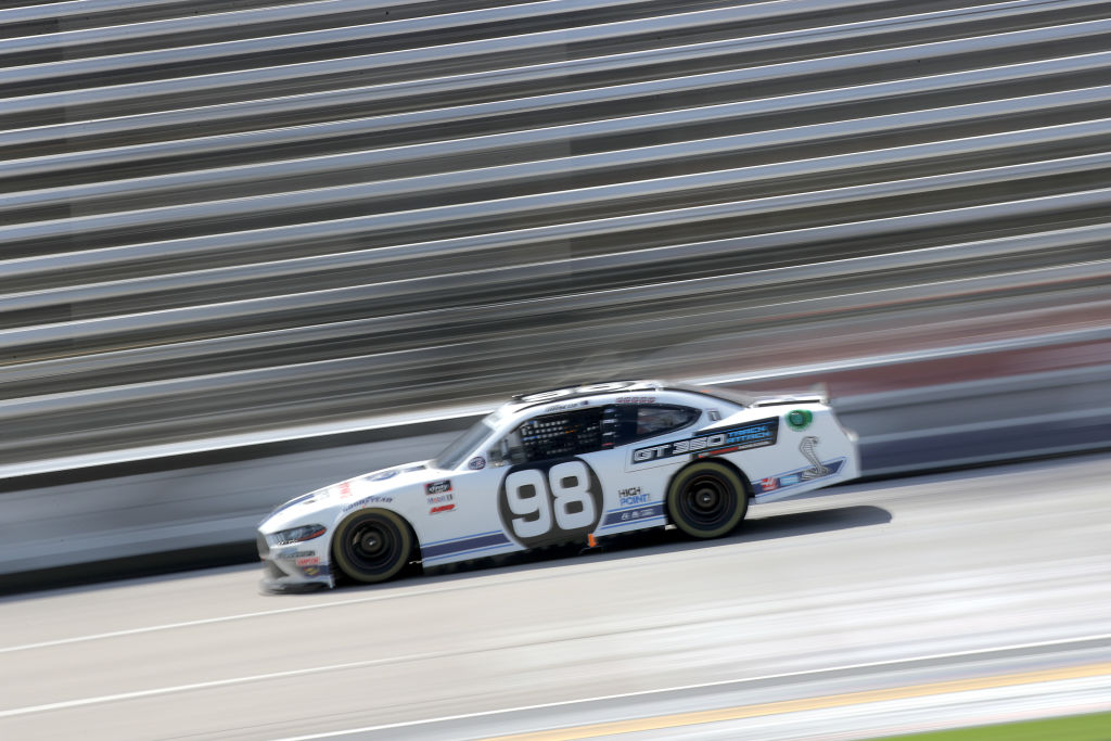 FORT WORTH, TEXAS - JULY 18: Chase Briscoe, driver of the #98 Ford Performance Racing School Ford, races during the NASCAR Xfinity Series Bariatric Solutions 300 at Texas Motor Speedway on July 18, 2020 in Fort Worth, Texas. (Photo by Chris Graythen/Getty Images) | Getty Images