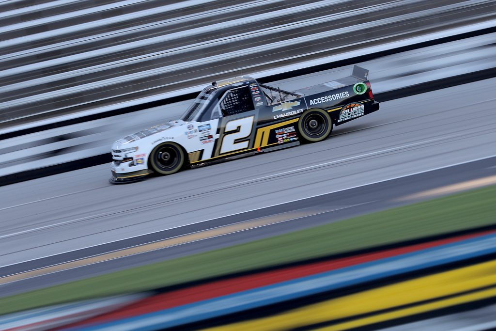 FORT WORTH, TEXAS - JULY 18: Sheldon Creed, driver of the #2 Chevy Accessories Chevrolet, races during the NASCAR Gander RV & Outdoors Truck Series Vankor 350 at Texas Motor Speedway on July 18, 2020 in Fort Worth, Texas. (Photo by Chris Graythen/Getty Images) | Getty Images