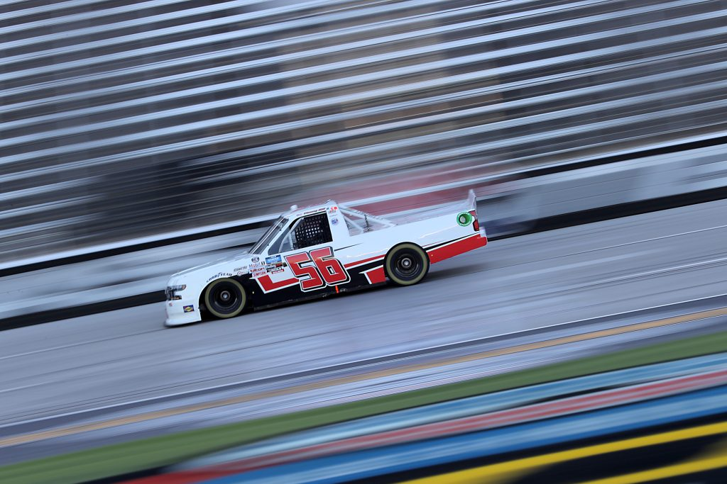 FORT WORTH, TEXAS - JULY 18: Timmy Hill, driver of the #56 Hill Motorsports Chevrolet, races during the NASCAR Gander RV & Outdoors Truck Series Vankor 350 at Texas Motor Speedway on July 18, 2020 in Fort Worth, Texas. (Photo by Chris Graythen/Getty Images) | Getty Images
