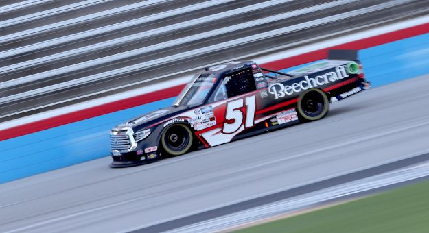 FORT WORTH, TEXAS - JULY 18: Kyle Busch, driver of the #51 Cessna Toyota, races during the NASCAR Gander RV & Outdoors Truck Series Vankor 350 at Texas Motor Speedway on July 18, 2020 in Fort Worth, Texas. (Photo by Chris Graythen/Getty Images) | Getty Images
