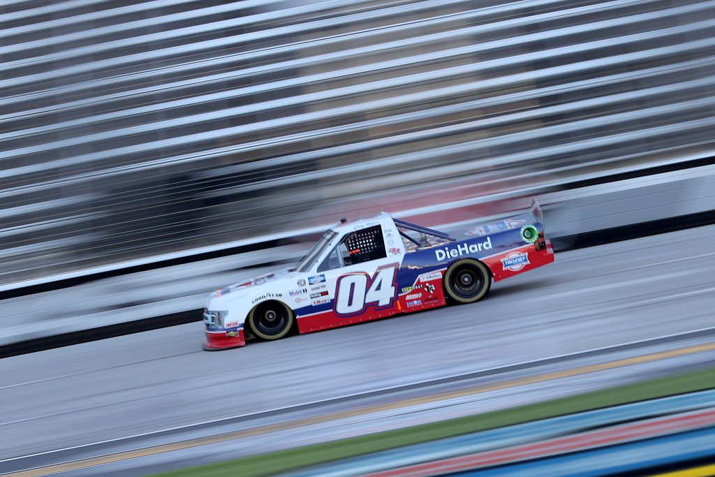 FORT WORTH, TEXAS - JULY 18: Cory Roper, driver of the #04 CarQuest Ford, races during the NASCAR Gander RV & Outdoors Truck Series Vankor 350 at Texas Motor Speedway on July 18, 2020 in Fort Worth, Texas. (Photo by Chris Graythen/Getty Images) | Getty Images