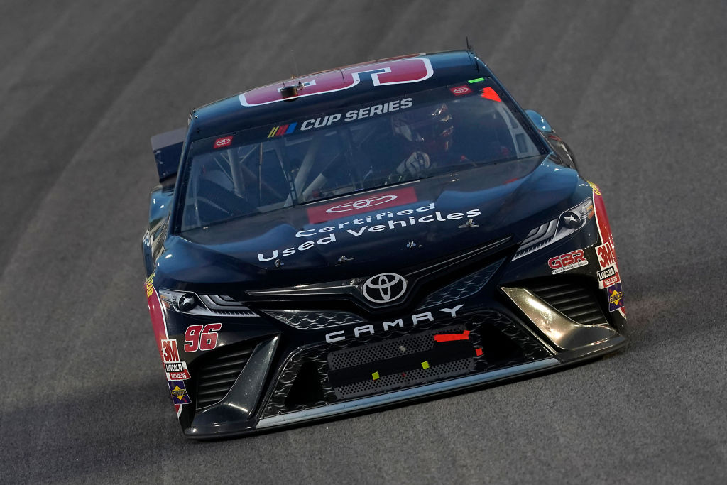 KANSAS CITY, KANSAS - JULY 23: Daniel Suarez, driver of the #96 Toyota Certified Used Vehicles Toyota, drives during the NASCAR Cup Series Super Start Batteries 400 Presented by O'Reilly Auto Parts at Kansas Speedway on July 23, 2020 in Kansas City, Kansas. (Photo by Kyle Rivas/Getty Images) | Getty Images